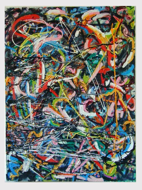 Material Abstract Expressionist Paintings.